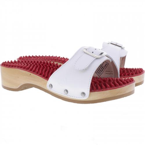 Details zu Berkemann Noppen Sandale mit Absatz Weiß Kalbsleder Art: 00108 100 Damen