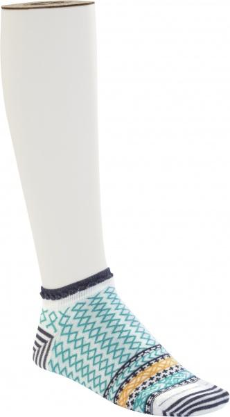 Birkenstock Damen Sneaker Socken - Cotton Ethno Summer Sneaker - Viridian Green