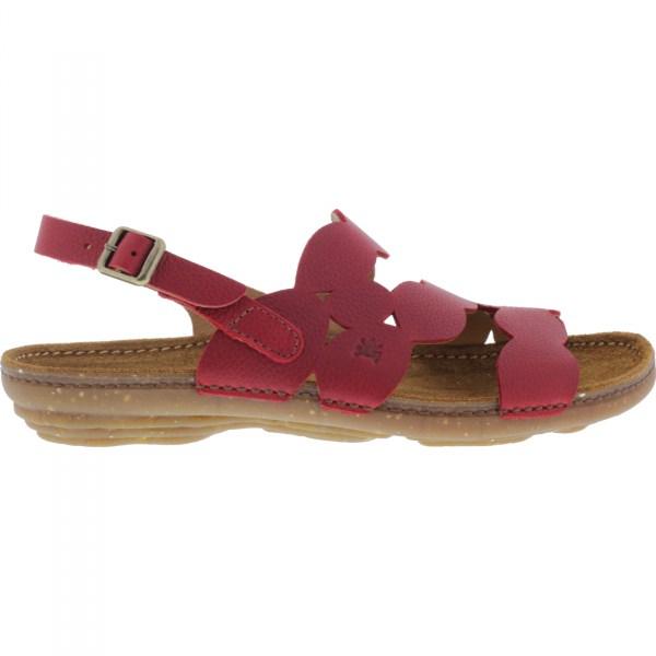 El Naturalista / Modell: N5223 Torcal / Farbe: Soft Grain Tibet Rot Leder / Damen Sandalen