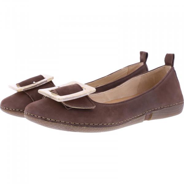 Neosens / Modell: S3116 / Viura Texas-Brown Braun Leder / Edle Damen Ballerinas