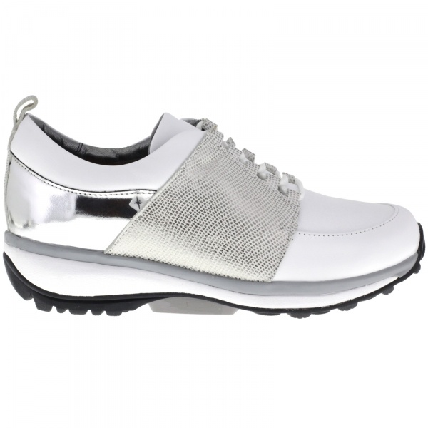 Xsensible Stretchwalker / Modell: Nice / Weiss-Silber  / Leder / Art: 300313-110 / Damen Sneaker