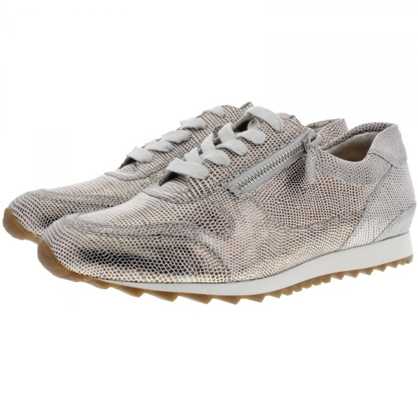 Hassia / Barcelona / Silber Metallicleder / Wechselfußbett / Art: 3-301915-7600 / Damen Sneaker