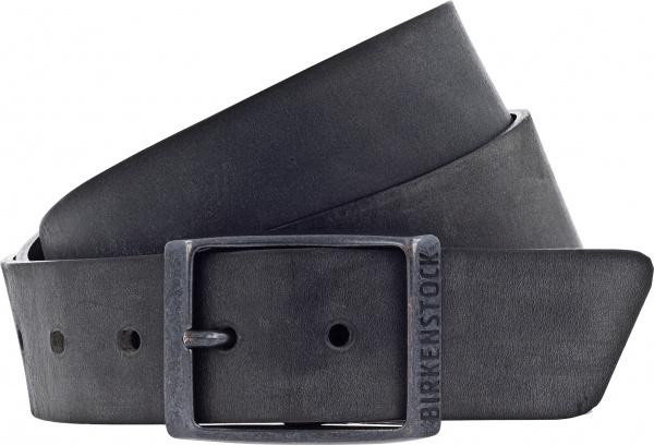 Birkenstock Gürtel / Modell: Kansas / Breite: 35mm / Schwarz Leder / Unisex Gürtel