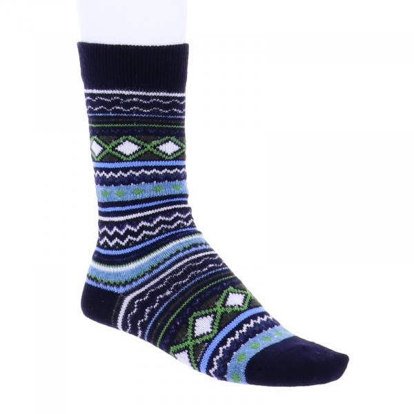 Birkenstock Damen Socken - Fashion Ethno - Navy-Grün Multi - Wolle