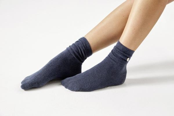 Birkenstock Damen Socken - Cotton Sole - Navy (Dunkelblau)