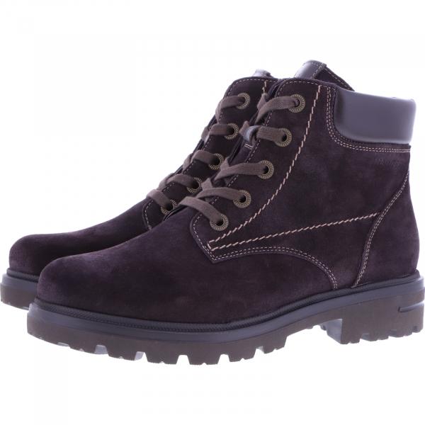 Hartjes / Modell: Hike Boot / Dunkelbraun Veloursleder / Weite: H / 151872-7777 / Damen Stiefeletten