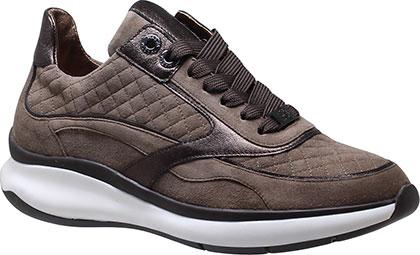 Hassia / Monaco / Taupe-Darkbrown Leder / Wechselfußbett / Art: 2-301132-1986 / Damen Sneakers