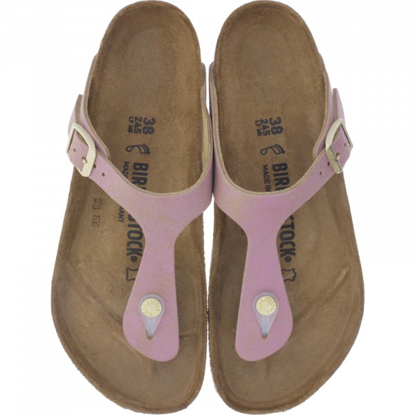 Birkenstock / Modell: Gizeh / Washed Metallic Pink / Weite: Normal / Art: 1012903 / Zehensteg