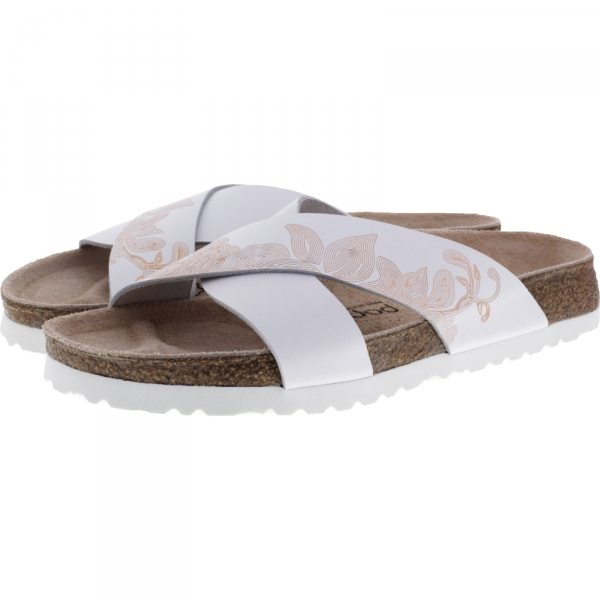 Papillio / Modell: Daytona / Ornaments White-Rosegold / Art: 1009088 / Damen Sandalen