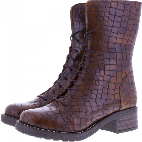 Brako / Modell: Military Opako / Cuero Braun Muster Leder / Art: 8470 / Damen Stiefel