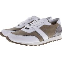 Hassia / Barcelona / Weiß-Beige Leder / Wechselfußbett / Art: 5-301943-0217 / Damen Sneakers