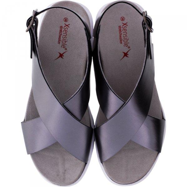Xsensible Stretchwalker / Modell: Corfu / Old Silver / Leder / Art: 300365-903 / Damen Sandalen