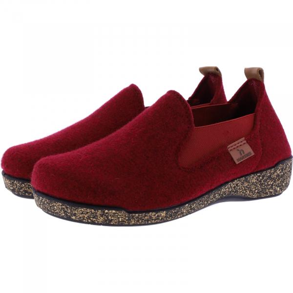 Hartjes / Modell: Feel Good / Kardinalrot Wolle / Weite: G / 5220874-8100 / Damen Hausschuhe