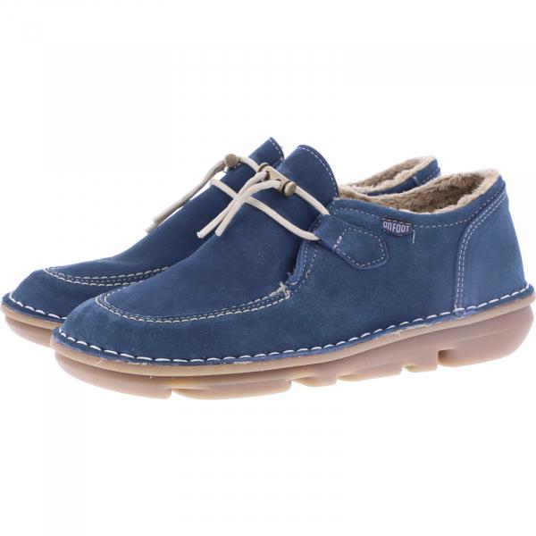 OnFoot / Modell: Silken / Farbe: Petroleo Blau Leder / Art.: 30502 / Damen Schnürer