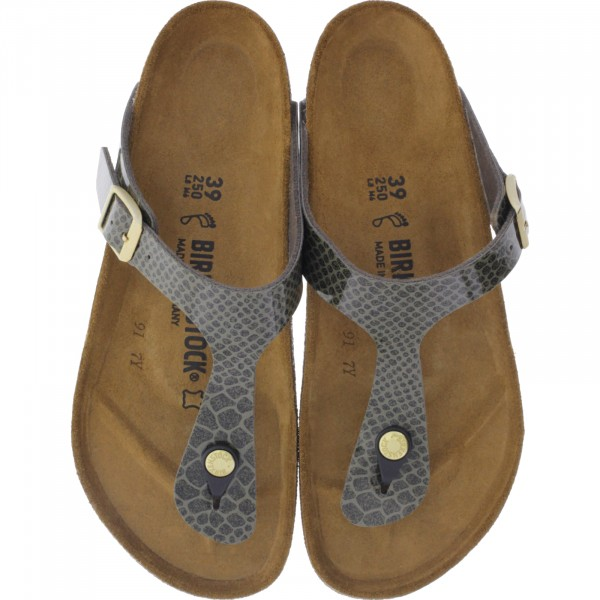 Birkenstock / Modell: Gizeh / Magic Snake Khaki / Weite: Normal / Art: 1011774