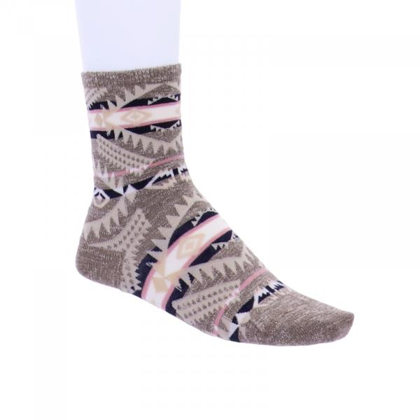 Birkenstock Damen Socken - Summer Linen Ethno - Faded Khaki