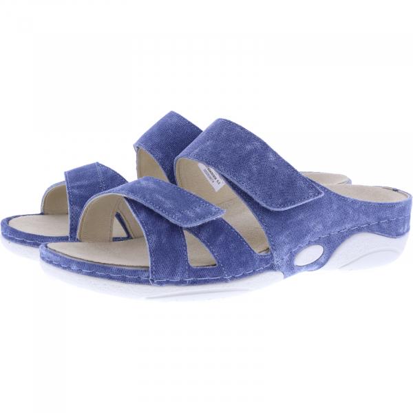 Berkemann / Modell: Sandy / Washed-Jeans Blau Leder / Leisten: Sunbury  / Art: 01604-309 / Damen