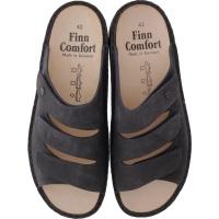 Finn Comfort / Korfu / Dark Grey Rindsleder / Wechselfußbett / Art: 01508-419388 / Herren Pantolette