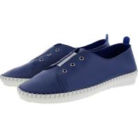 Brako / Modell: Traveller / Azul-Blau Leder / Wechselfußbett / Art: 1712 / Damen Slipper