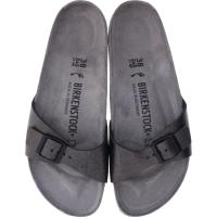 Birkenstock / Modell: Madrid / Washed Metallic Antique Black / Weite: Schmal / Art: 1011276 / Damen