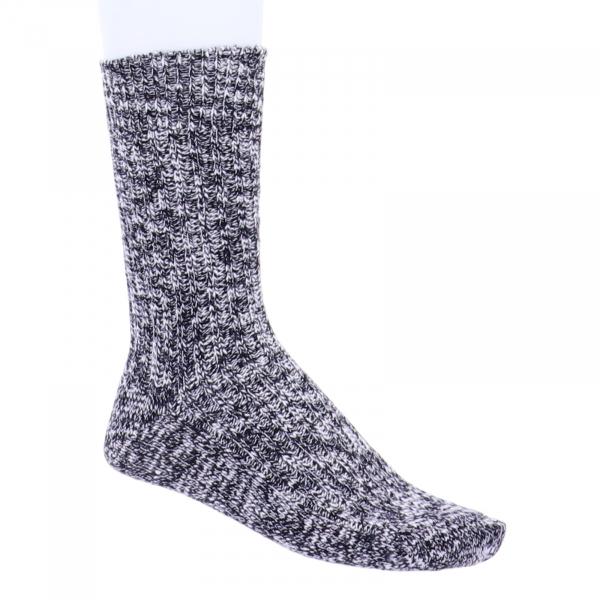 Birkenstock Damen Socken - Cotton Slub - Schwarz-Grau Meliert