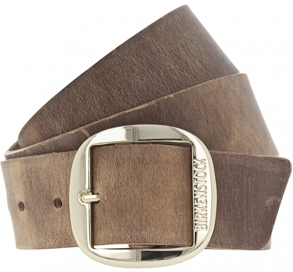 Birkenstock Gürtel / Modell: Big Buckle Kansas / Breite: 40mm / Cognac Braun Leder / Damen Gürtel