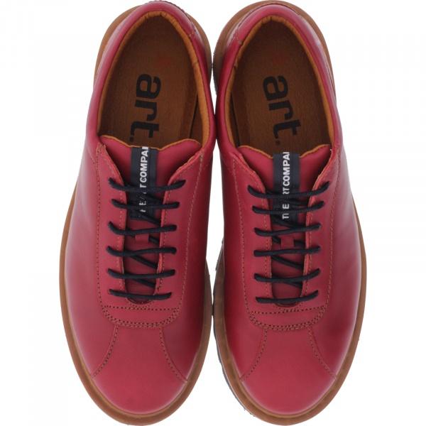 The Art / Modell: 1401 Toronto / Farbe Grass Amarente Rot Leder / Damen Schnürer
