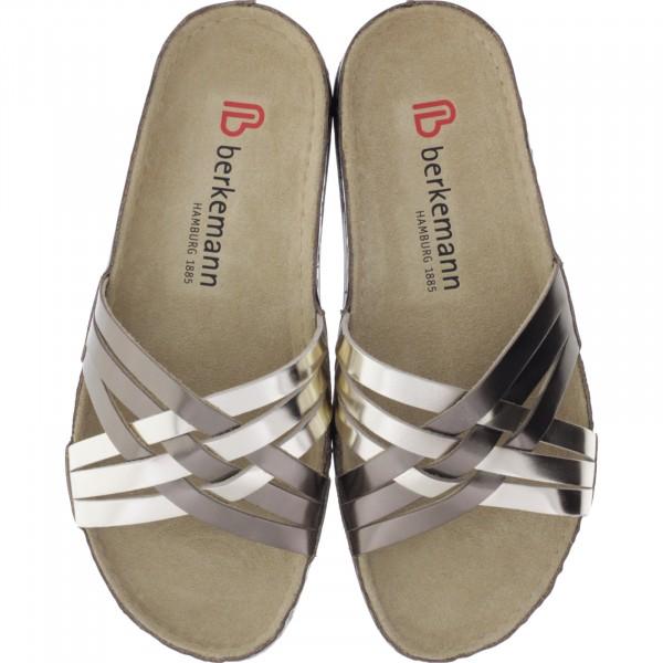 Berkemann / Modell: Melou / Bronze-Metallic Leder / Form: Evora / Art: 01915-718 / Damen Pantoletten