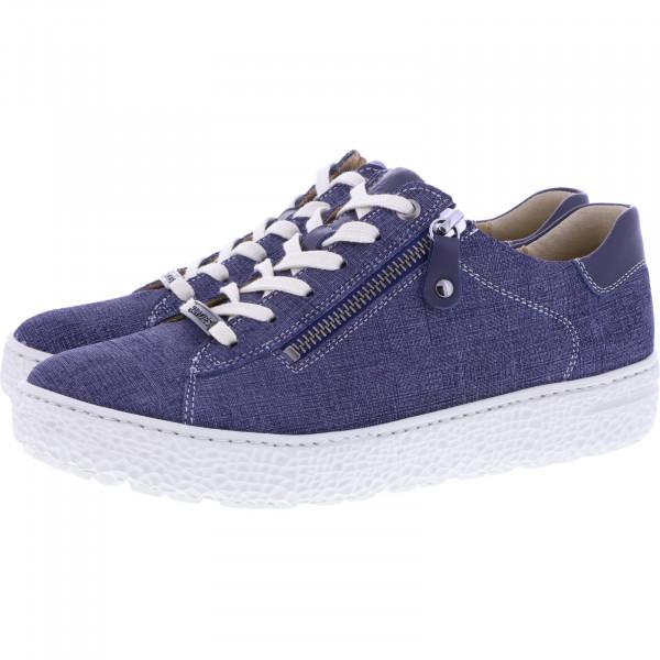 Hartjes / Modell: Phil / Dunkelblau Jeans Leder / Weite: H / 140862-4747 / Damen Sneakers