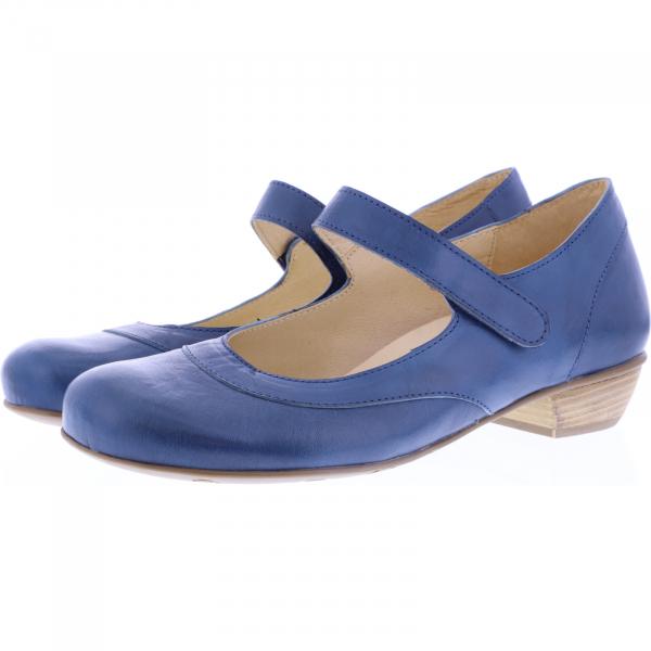 Brako / Modell: Bem / Jeans Blau Leder / Art: 6480 / Damen Ballerinas