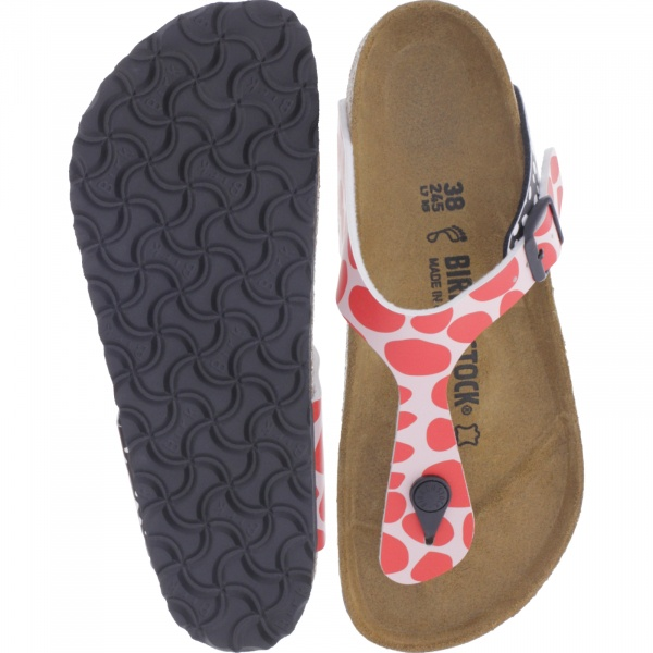 Birkenstock / Modell: Gizeh / Two Tone Dots Pink-Red / Weite: Normal / Art: 1013604 / Damen
