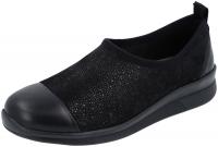 Berkemann / Modell: Sari / Schwarz Muster Leder-Stretch / Form: Barcelona / Art: 05165-892 / Damen 4.5 UK