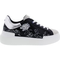 Ed Parrish Sneakers / Modell: Sarah / Cemento-Nero / Leder-Stickerei / Wechselfußbett / Damen
