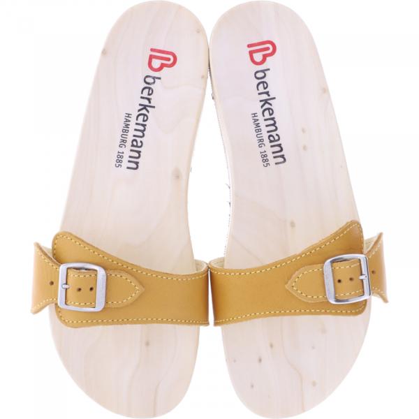 Berkemann / Original-Sandale / B100 / Ecouro Karamell Nappa Leder / Art: 00106-550 / Holzsanden