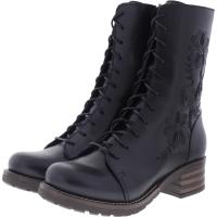 Brako / Modell: Military Pull / Negro Schwarz Leder / Stiefel / Art: 8468 / Damen Stiefel