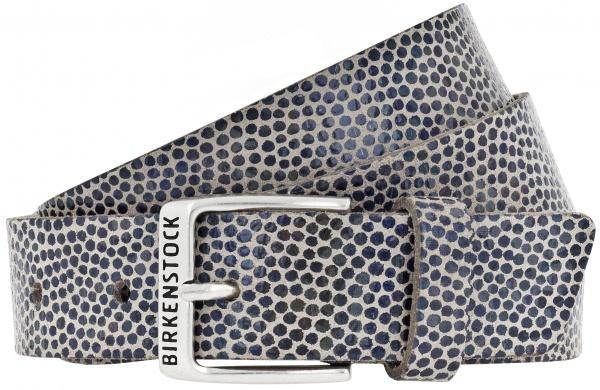 Birkenstock Gürtel / Modell: Milwaukee / Breite: 30mm / Caviar Blue Leder / Damen Gürtel