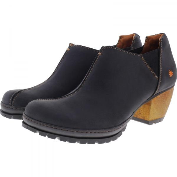 The Art / Modell: 0543 Oslo / Farbe Rustic Black Leder / Damen Slipper-Clogs
