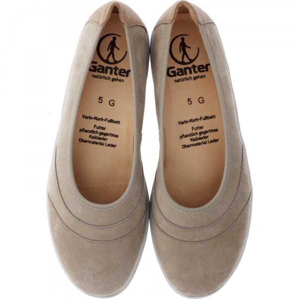 Ganter / Gill / Taupe Nubuk / Wechselfußbett / Weite: G / Art: 5-205212-1900 / Damen Ballerinas