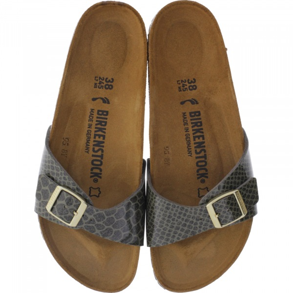 Birkenstock / Modell: Madrid / Magic Snake Khaki / Weite: Schmal / Art: 1011759