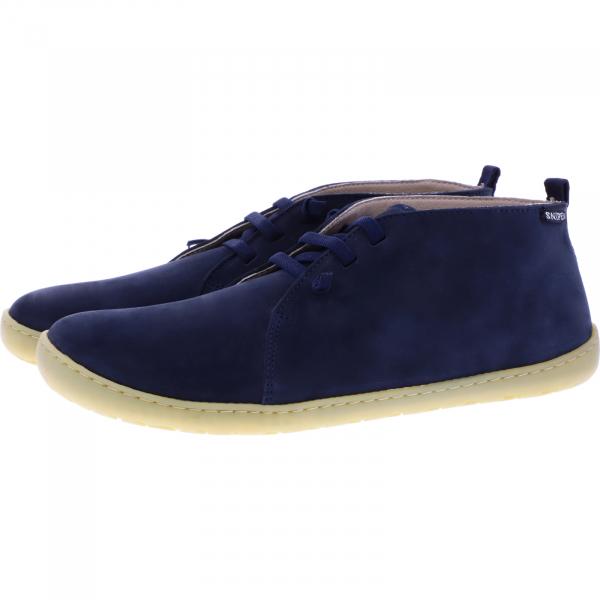 Snipe / Modell: Barefoot / Marino Blau Nubukleder / Schnürer / Art: 05283-020 / Herren Schnürer