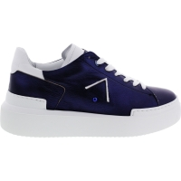 Ed Parrish Sneakers / Modell: Elisa / Deep-Blau Metallic / Kalbsleder / Wechselfußbett / Damen