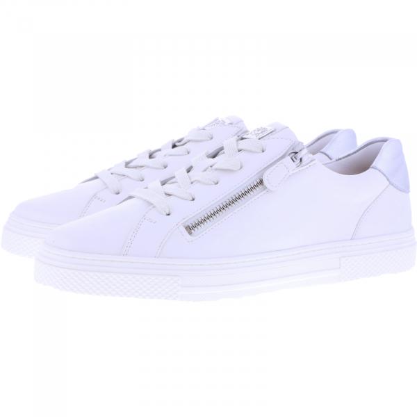 Hassia / Bilbao / Milk-Silver Leder / Wechselfußbett / Art: 1-301239-0676 / Damen Sneakers
