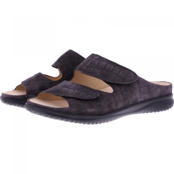 Hartjes / Modell: Breeze / Smoke Grau Velours / Weite: G / 1221118-1400 / Damen Pantoletten