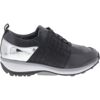 Xsensible / Modell: Nice / Black Croco - Silver / Leder / Art: 300313-043 / Damen Strechwalker