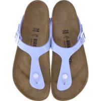 Birkenstock / Modell: Gizeh / Dove Blue Birko-Flor-Lack / Weite: Normal / Art: 1019386 / Damen Zehensteg