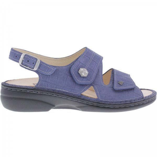Finn Comfort / Milos / Blue Leder / Wechselfußbett / Art: 2560-477241 / Damen Sandale