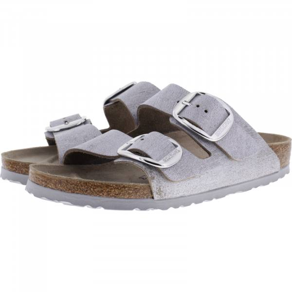 Birkenstock / Modell: Arizona Big Buckle / Washed Metallic Blue Silver / Weite: Schmal / Art:1012880