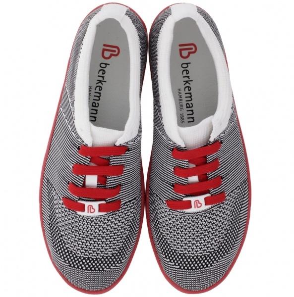Berkemann Comfort Knit / Modell: Allegra / Schwarz-Weiß-Rot / Form: Antibes / Art: 05450-976 / Damen