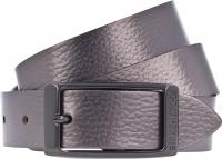 Birkenstock Gürtel / Modell: Illinois Metallic / Breite: 30mm / Platin Leder / Damen Gürtel 80cm