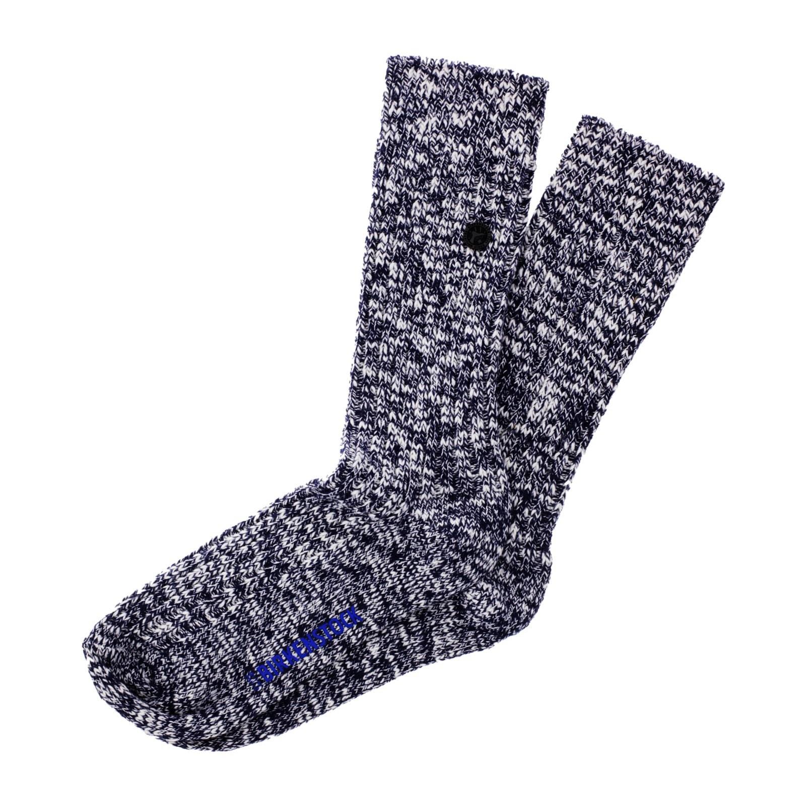Birkenstock Herren Socken Cotton Slub Blau Weiß Meliert